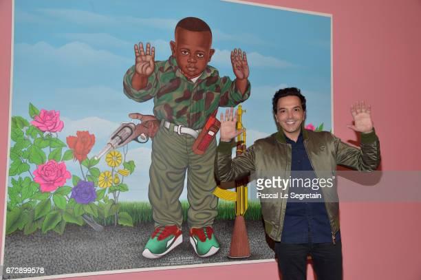Kamel Ouali attends 'Art Afrique Le Nouvel Atelier' Exhibition Opening at Fondation Louis Vuitton on April 25 2017 in Paris France