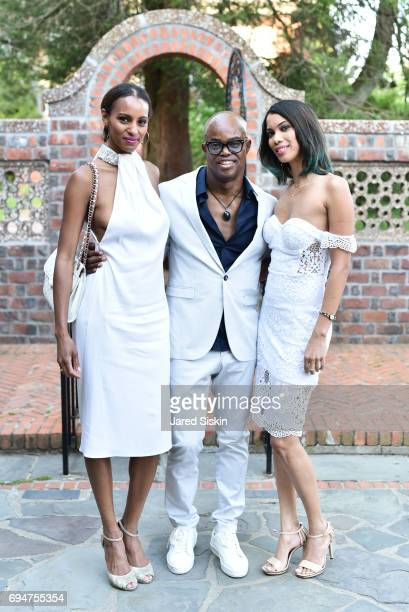 Kamela Forbes Matheson Merv Matheson and Jolia Mazzullo attend the 21st Annual Hamptons Heart Ball at Southampton Arts Center on June 10 2017 in...