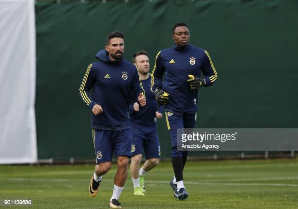 Kameni of Fenerbahce attends a training session ahead of the 2nd half of Turkish Super Lig at Belek Tourism Center in Serik district of Antalya...
