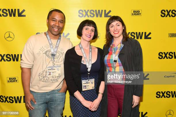 Kameron Collins Violet Lucca and April Wolfe attend the SXSW Film Awards Show 2018 SXSW Conference and Festivals at Paramount Theatre on March 13...