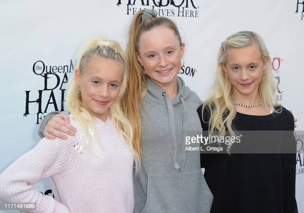 Kameron Couch, Mackenzie Couch and Katie Couch attend Queen Mary's 10th Annual Dark Harbor Media And VIP Night held at The Queen Mary on September...