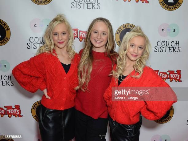 Kameron Couch Mackenzie Couch and Katie Couch attend The Couch Sisters 1st Annual Toys For Tots Toy Drive held onNovember 20 2019 in Glendale...