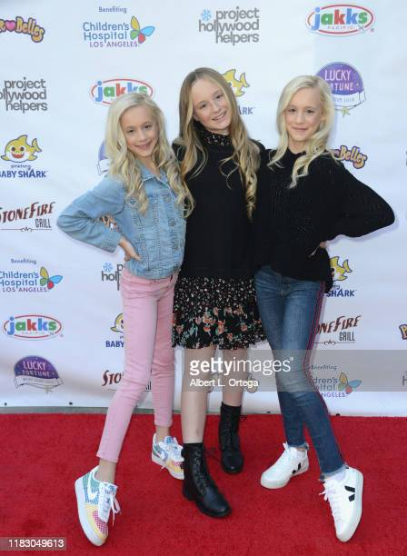 Kameron Couch, Mackenzie Couch and Katie Couch attends Project Hollywood Helpers held at the Skirball Cultural Center on November 16, 2019 in Los...