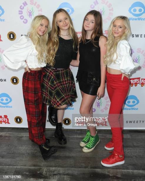 Kameron Couch, Mackenzie Couch, Presley Reese and Katie Couch participate in the 2nd Annual Toys For Tots Toy Drive held at The Industry Loft Space...