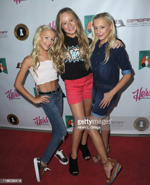 Kameron Couch, Mckenzie Couch and Katie Couch attend Isabella Leon's 12th Birthday Party held at Montrose Bowl on September 5, 2019 in Montrose,...