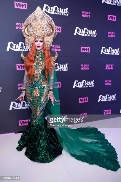 Kameron Michaels attends 'RuPaul's Drag Race' Season 10 Meet The Queens at TRL Studios on March 21 2018 in New York City