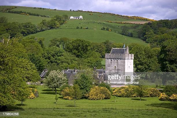 Kames Castle castellated mansion house Isle of Bute Scotland United Kingdom