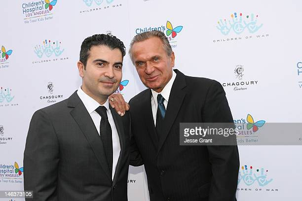 Kami Parsa and Andrew Ordon attend the Chagoury Couture Fashion Show and Annual Benefit for The Children of War Foundation at Chagoury Couture on...