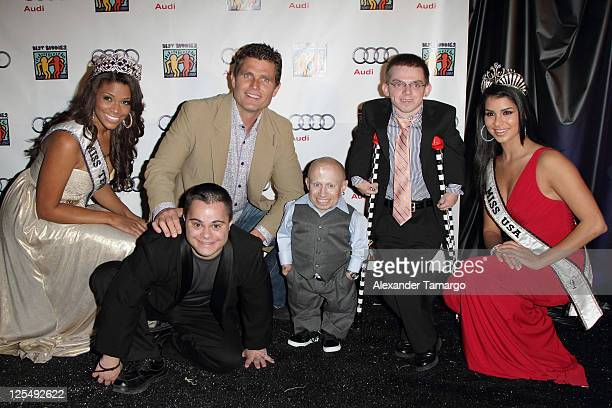 Kamie Crawford Antony Shriver Verne Troyer Alex O'Brien and Rima Fakih arrive at the Fourteenth Annual Best Buddies Miami Gala Celebrating Fifty...