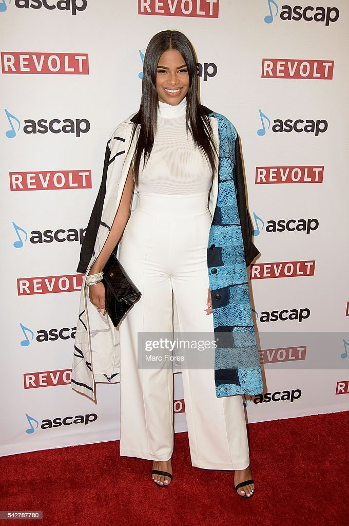 Kamie Crawford arrives at the 29th Annual ASCAP Rhythm And Soul Music Awards at the Beverly Wilshire Four Seasons Hotel on June 23, 2016 in Beverly Hills, California.