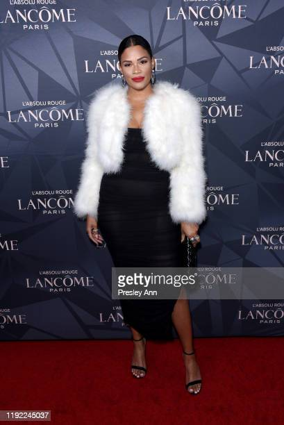 Kamie Crawford attends Lancôme x Vogue L'Absolu Ruby Holiday Event at Raspoutine on December 05, 2019 in West Hollywood, California.