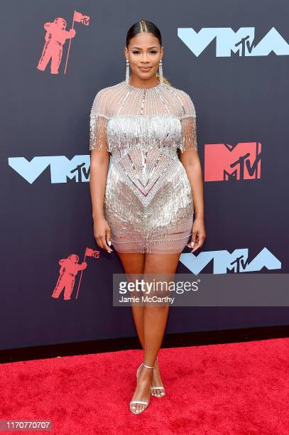 Kamie Crawford attends the 2019 MTV Video Music Awards at Prudential Center on August 26, 2019 in Newark, New Jersey.