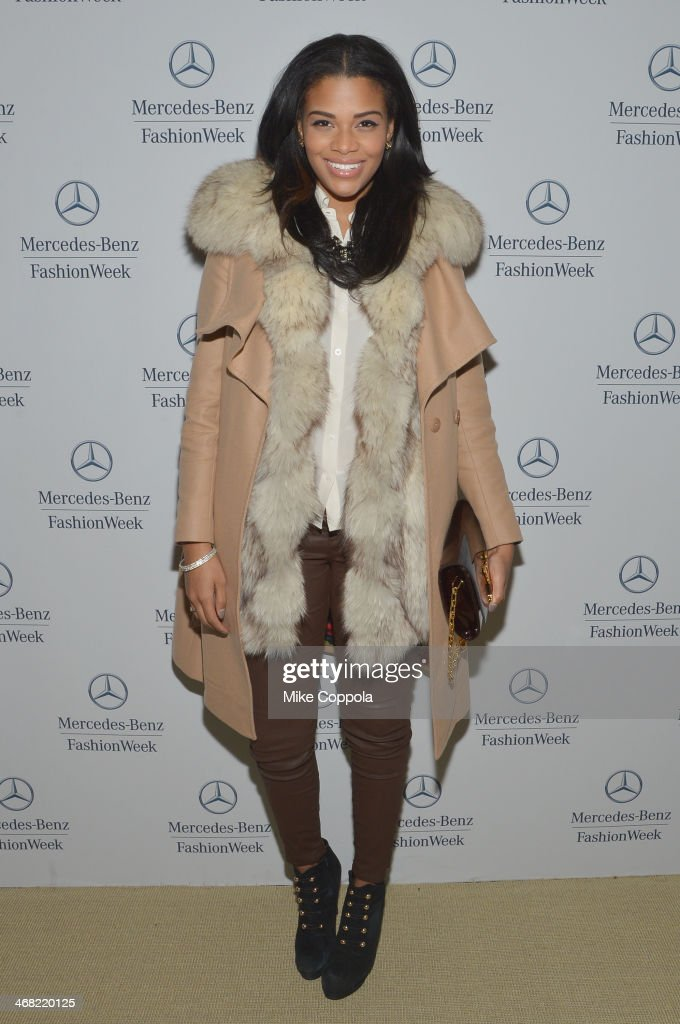 Kamie Crawford attends the Mercedes-Benz Star Lounge during Mercedes-Benz Fashion Week Fall 2014 at Lincoln Center on February 9, 2014 in New York City.