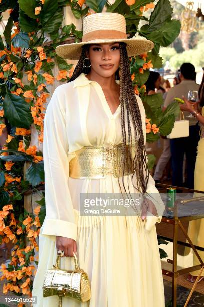 Kamie Crawford attends the Veuve Clicquot Polo Classic Los Angeles at Will Rogers State Historic Park on October 02, 2021 in Pacific Palisades,...