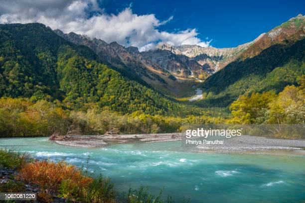 kamikochi nation park - land feature stock pictures, royalty-free photos & images