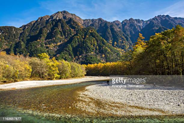 kamikochi national park, japan. - takayama city stock pictures, royalty-free photos & images
