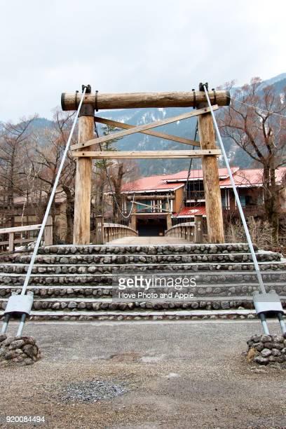 Kamikochi spring scenery, Kappa-bashi bridge