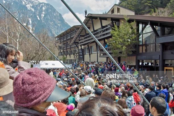 Kamikochi spring scenery, Opening Festival