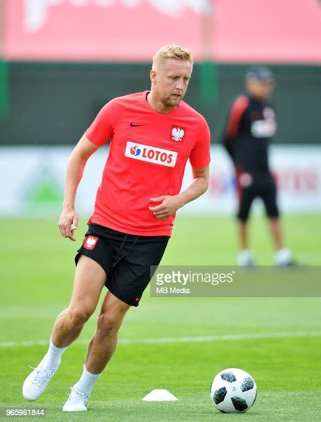 Kamil Glik during a training session of the Polish national team at Arlamow Hotel during the second phase of preparation for the 2018 FIFA World Cup...