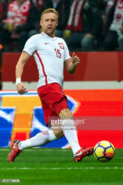 Kamil Glik from Poland controls the ball while Poland v Uruguay International Friendly soccer match at National Stadium on November 10 2017 in Warsaw...