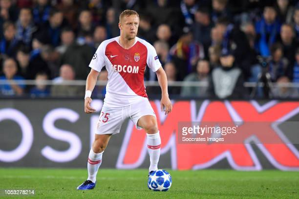 Kamil Glik of AS Monaco during the UEFA Champions League match between Club Brugge v AS Monaco at the Jan Breydel Stadium on October 24 2018 in...