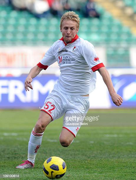 Kamil Glik of Bari in action during the Serie A match between AS Bari and Genoa CFC at Stadio San Nicola on February 13 2011 in Bari Italy