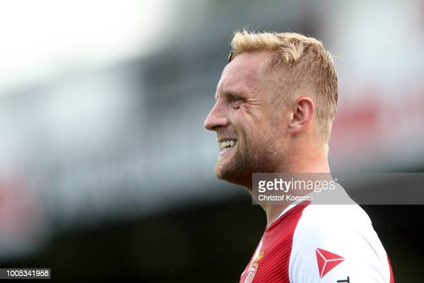 Kamil Glik of Manaco is seen during the PreSeason Friendly match between VfL Bochum and AS Monaco at Sportclub Arena on July 25 2018 in Verl Germany...