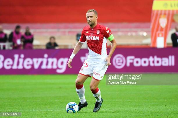Kamil GLIK of Monaco during the Ligue 1 match between AS Monaco and Stade Rennes at Stade Louis II on October 20 2019 in Monaco Monaco