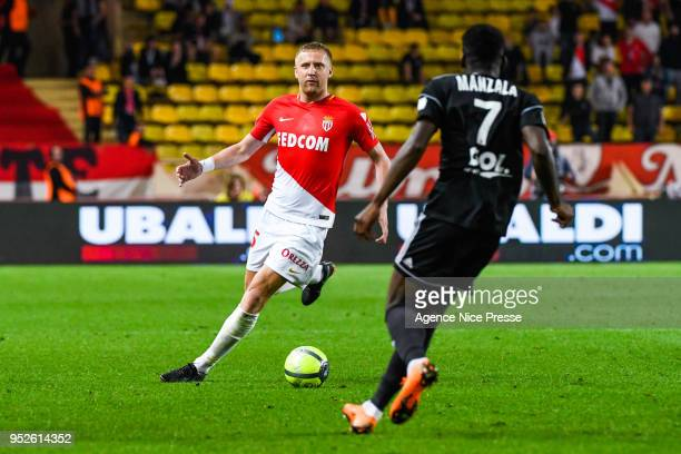 Kamil Glik of Monaco during the Ligue 1 match between AS Monaco and Amiens SC at Stade Louis II on April 28 2018 in Monaco