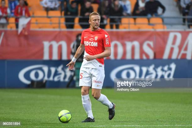 Kamil Glik of Monaco during the Ligue 1 match between Troyes AC and AS Monaco at Stade de l'Aube on May 19 2018 in Troyes