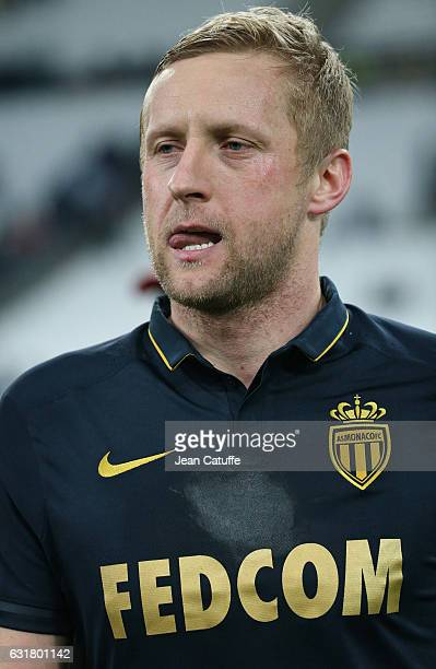 Kamil Glik of Monaco looks on following the French Ligue 1 match between Olympique de Marseille and AS Monaco at Stade Velodrome on January 15 2017...