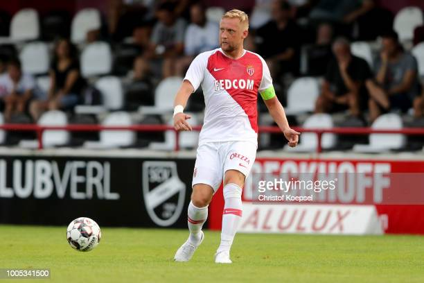 Kamil Glik of Monaco runs with the ball during the PreSeason Friendly match between VfL Bochum and AS Monaco at Sportclub Arena on July 25 2018 in...
