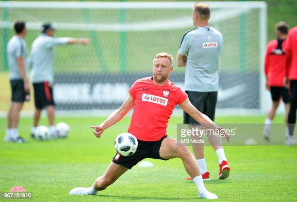 Kamil Glik of Poland during a Polish national team training session at Arlamow Hotel during the second phase of preparation for the 2018 FIFA World...