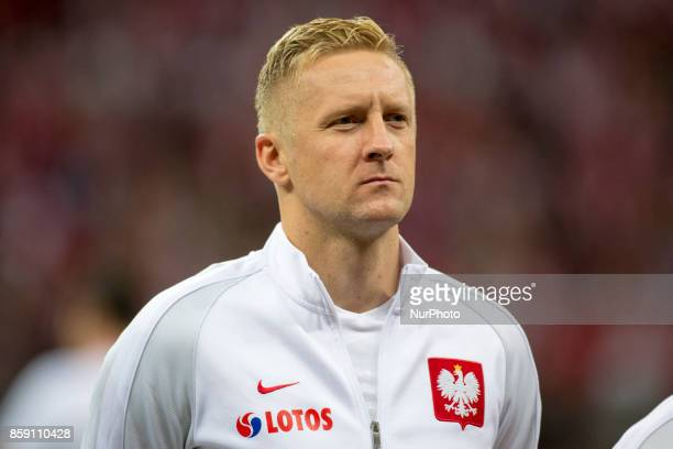 Kamil Glik of Poland during the FIFA World Cup 2018 Qualifying Round Group E match between Poland and Montenegro at National Stadium in Warsaw Poland...