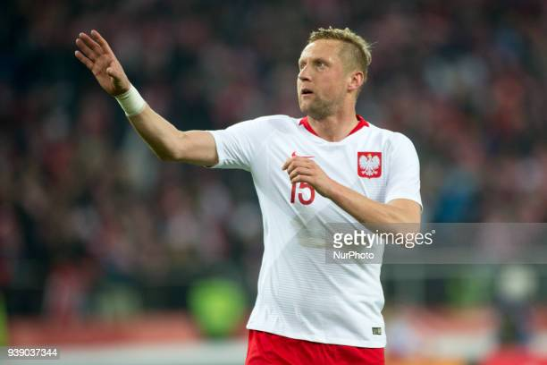 Kamil Glik of Poland during the international friendly match between Poland and South Korea at Silesian Stadium in Chorzow Poland on March 27 2018