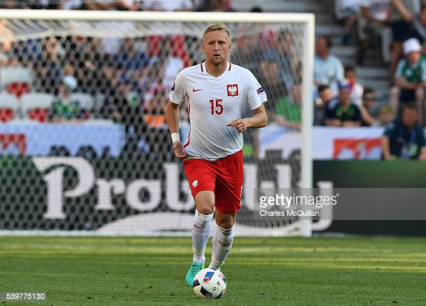 Kamil Glik of Poland during the UEFA EURO 2016 Group C match between Poland v Northern Ireland at Allianz Riviera Stadium on June 12 2016 in Nice...