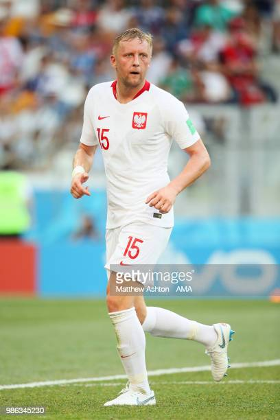 Kamil Glik of Poland in action during the 2018 FIFA World Cup Russia group H match between Japan and Poland at Volgograd Arena on June 28 2018 in...
