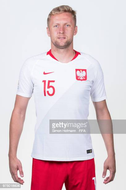 Kamil Glik of Poland poses during the official FIFA World Cup 2018 portrait session at Hyatt Regency Hotel on June 14 2018 in Sochi Russia
