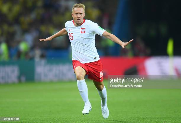 Kamil Glik of Poland reacts during the 2018 FIFA World Cup Russia group H match between Poland and Colombia at Kazan Arena on June 24 2018 in Kazan...