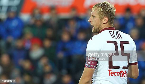 Kamil Glik of Torino FC looks on during the Serie A match between Atalanta BC and Torino FC at Stadio Atleti Azzurri d'Italia on November 22 2015 in...