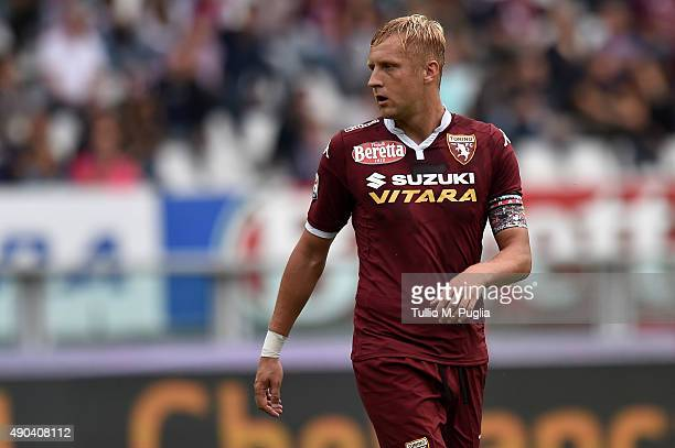 Kamil Glik of Torino in action during the Serie A match between Torino FC and US Citta di Palermo at Stadio Olimpico di Torino on September 27 2015...