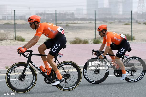 Kamil Gradek of Poland and CCC Team / Jakub Mareczko of Italy and CCC Team / during the 6th UAE Tour 2020, Stage 4 a 173km stage from Zabeel Park to...