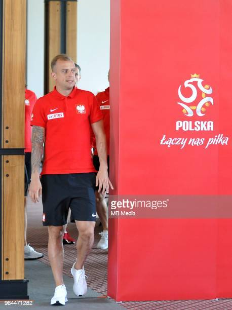 Kamil Grosicki during press conference at Arlamow Hotel during the second phase of preparation for the 2018 FIFA World Cup Russia on May 31 2018 in...