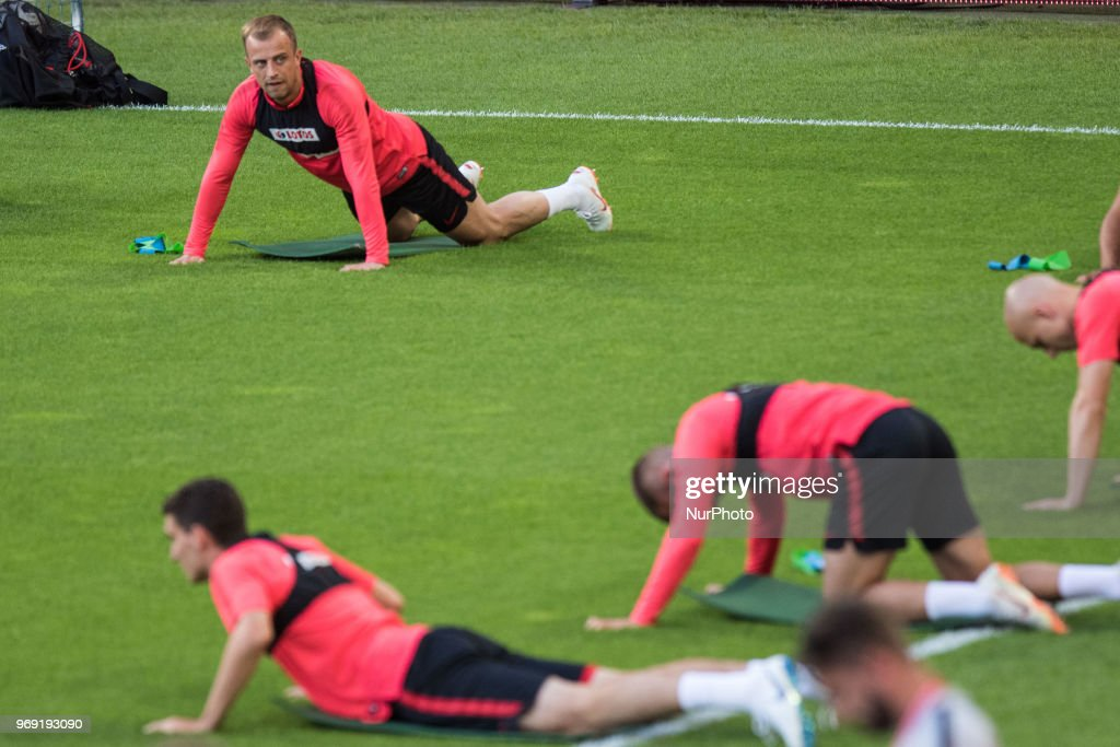 Kamil Grosicki during training session before friendly match Poland and Chile in Poznan, Poland, on 7 June 2018.