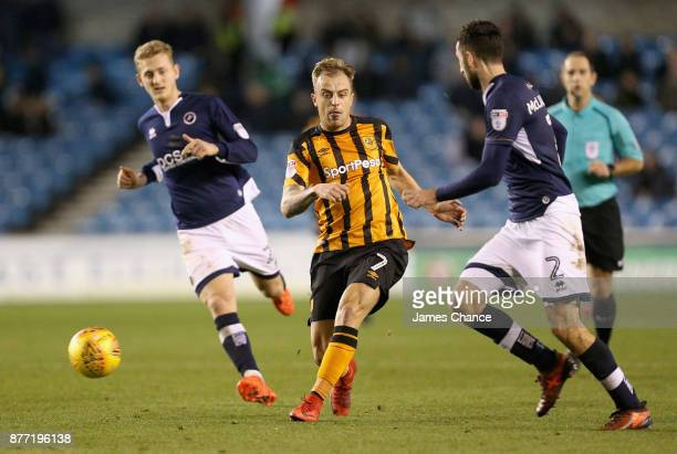 Kamil Grosicki of Hull City in actionduring the Sky Bet Championship match between Millwall and Hull City at The Den on November 21 2017 in London...
