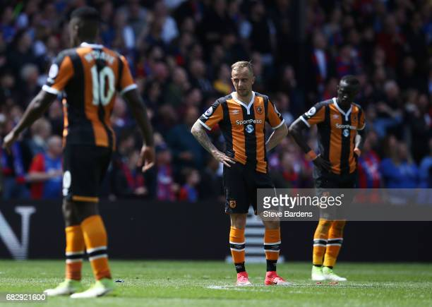 Kamil Grosicki of Hull City looks dejected during the Premier League match between Crystal Palace and Hull City at Selhurst Park on May 14 2017 in...
