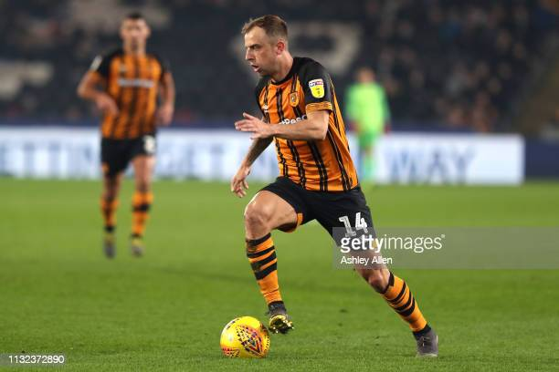 Kamil Grosicki of Hull City runs with the ball during the Sky Bet Championship match between Hull City and Millwall at the KCOM Stadium on February...