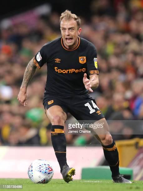 Kamil Grosicki of Hull City runs with the ball during the Sky Bet Championship match between Norwich City and Hull City at Carrow Road on March 13...