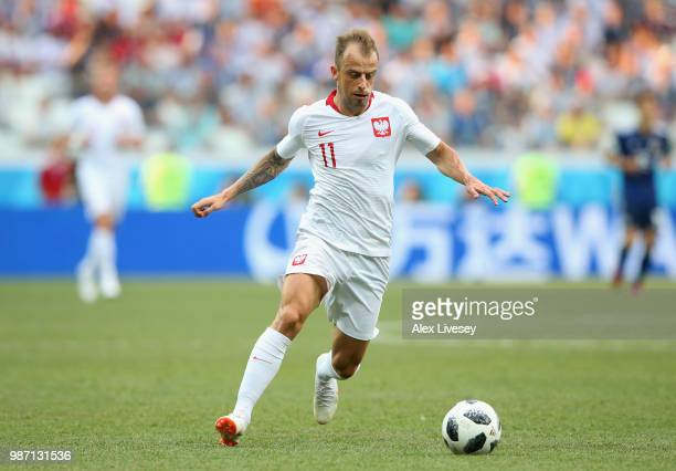 Kamil Grosicki of Poland during the 2018 FIFA World Cup Russia group H match between Japan and Poland at Volgograd Arena on June 28 2018 in Volgograd...