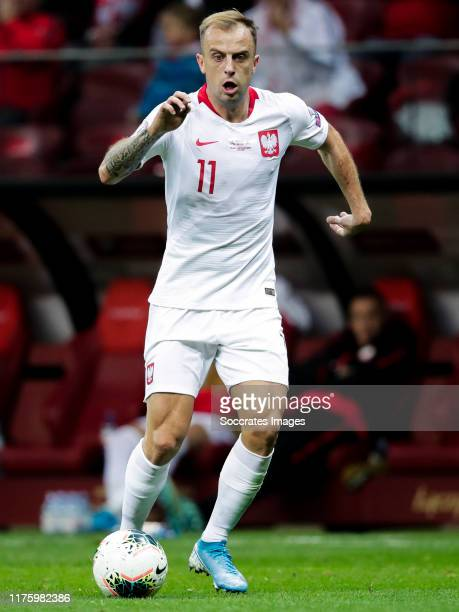 Kamil Grosicki of Poland during the EURO Qualifier match between Poland v FYR Macedonia at the Stadion Narodowy on October 13 2019 in Warszawa Poland